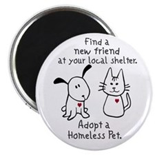 """Find a New Friend 2.25"""" Magnet (10 pack)"""