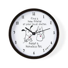 Find a New Friend Wall Clock