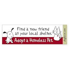 Find a New Friend Bumper Bumper Sticker