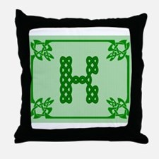 Cute Celtic k Throw Pillow