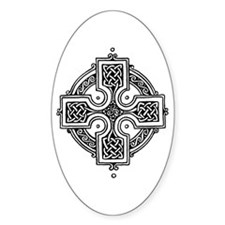 Celtic Circle Knotwork Oval Decal