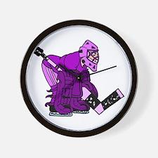 purple goalie Wall Clock