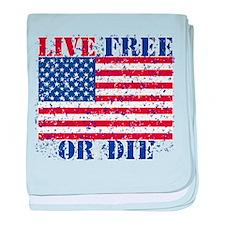 Unique Live free or die baby blanket