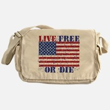 Cute Live free die Messenger Bag