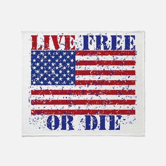 Cute Live free die Throw Blanket