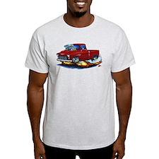 1955 Chevy Pickup Maroon Truck T-Shirt