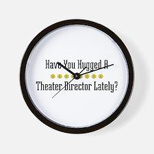 Hugged Theater Director Wall Clock