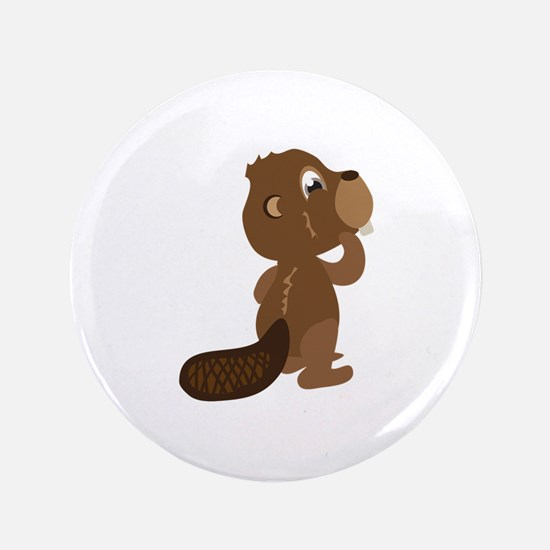 """Beaver Animal 3.5"""" Button"""