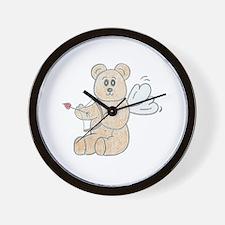 Cupid Teddy Bear Wall Clock