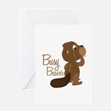 Busy Beaver Greeting Cards