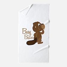 Busy Beaver Beach Towel