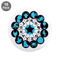 """Zodiac Signs 3.5"""" Button (10 pack)"""