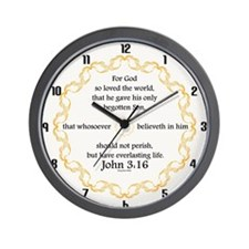 Funny King james bible Wall Clock