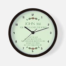 Unique Scripture verses Wall Clock