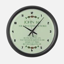 Cute Christian Large Wall Clock
