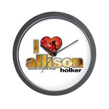 I Heart Allison Holker Wall Clock