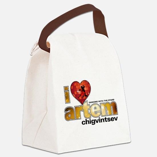 I Heart Artem Chigvintsev Canvas Lunch Bag