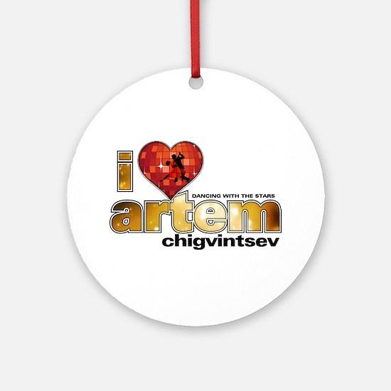I Heart Artem Chigvintsev Round Ornament