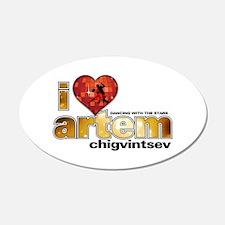 I Heart Artem Chigvintsev 38.5 x 24.5 Oval Wall Pe