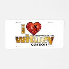 I Heart Witney Carson Aluminum License Plate