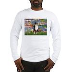Lilies2-Tri Aussie Shep2 Long Sleeve T-Shirt