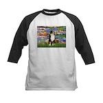 Lilies2-Tri Aussie Shep2 Kids Baseball Jersey