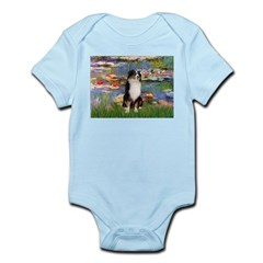 Lilies2-Tri Aussie Shep2 Infant Bodysuit