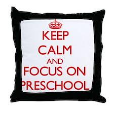 Cute I love kindergarten Throw Pillow