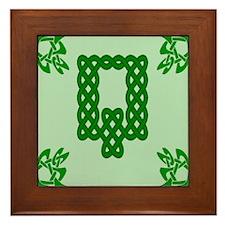 Cute Celtic c Framed Tile