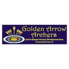 Golden Arrow Archers 10 Pack Bumper Bumper Sticker