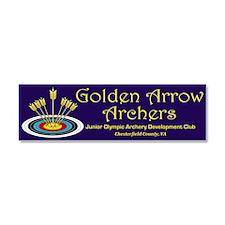 Golden Arrow Archers Car Magnet 10 X 3