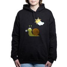 Little Snail on a Sunny  Women's Hooded Sweatshirt