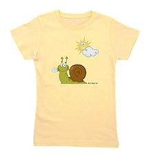 Little Snail on a Sunny Day! Girl's Tee