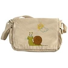 Little Snail on a Sunny Day! Messenger Bag