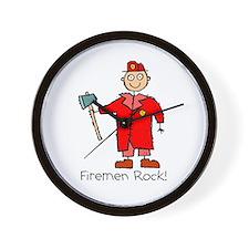 Firemen Rock Wall Clock