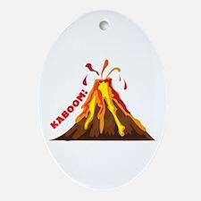 Volcano Kaboom Ornament (Oval)