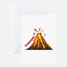 Volcano Kaboom Greeting Cards