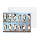 Funny owl birthday Greeting Cards
