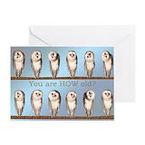Funny owl birthday Greeting Cards