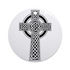 Celtic Knotwork Cross Ornament (Round)