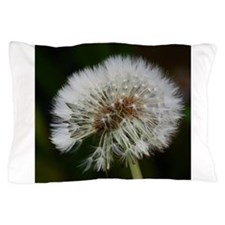 Funny Dandelion seeds blowing in the wind Pillow Case
