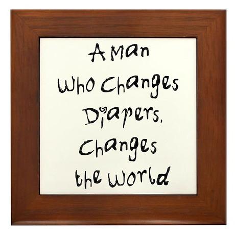 Change the World Framed Tile