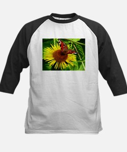 Yellow Flower with Butterfly Animal Baseball Jerse