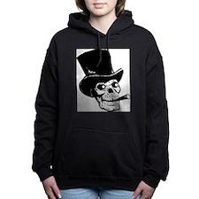 Funny Day of the dead black Women's Hooded Sweatshirt