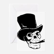 Black Skull Greeting Cards