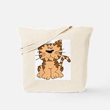 Tiger cat black white kitten graphic smillakatz Tote Bag