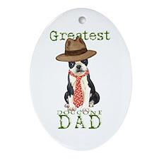 Boston Dad Oval Ornament