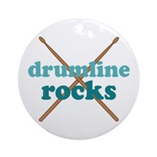 Drumline Rocks marching band Ornament (Round)