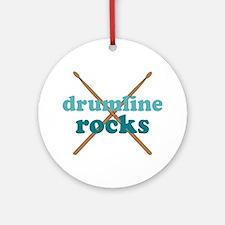 Drumline Rocks marching band Ornament (Round)