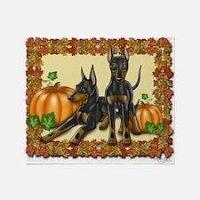 Autumn Standard Manchester Terriers Throw Blanket